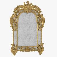 3d louis xiv giltwood mirror