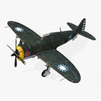 american republic p-47d 3d obj