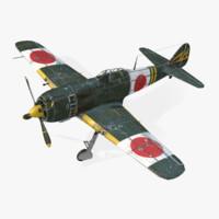 nakajima ki-84 hayate 3d model