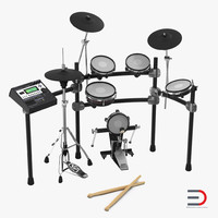 3d electronic drum kit set model
