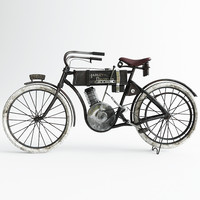 3d model harley-davidson motorbike