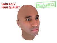 realistic man head 3d max