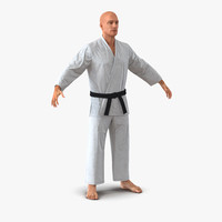karate fighter 3d model