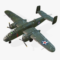 american b-25 mitchell 3d obj