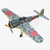 3d nakajima ki-43 hayabusa model