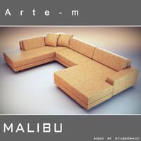 sofa malibu 3d 3ds