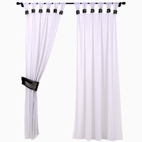 curtains garters 3d model