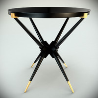 black lacquer table 3d max