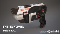 si-fi plasma pistol 3d model