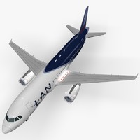 airbus a320-233 lan argentina 3d model
