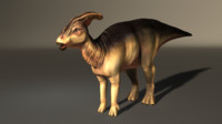 3d model of parasaurolophus