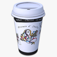 3d takeout cup