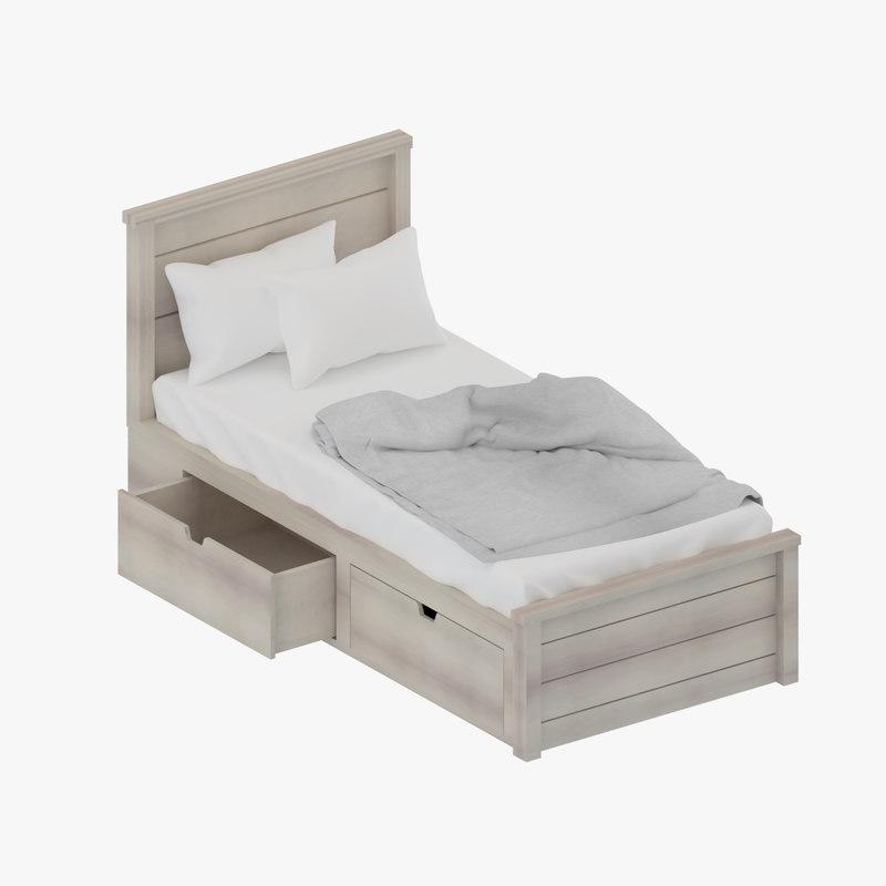 3d model storage single bed for Bed models images