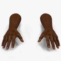 african man hands fur 3d model