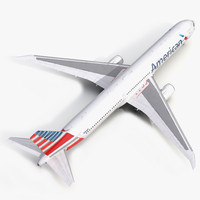 3d boeing 767-400er american airlines