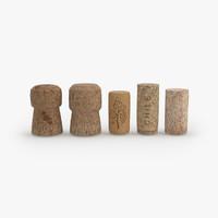 3d wine corks