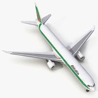 3d model boeing 767-400er alitalia