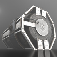 futuristic emergency backup generator 3d model