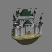 medieval castle 3d blend