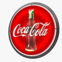 coca-cola vintage wall sign 3d max
