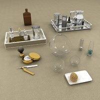 3d model bathroom accessories set