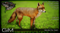 3d fbx animal wanda