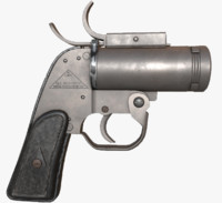 anm8 flare gun 3d model