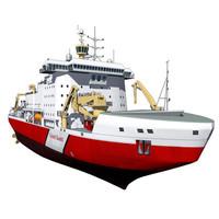 polar icebreaker 3d dxf