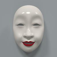 3d japanese mask