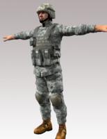 3d model soldier