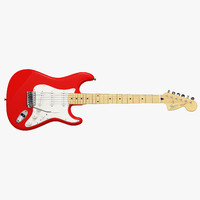 fender stratocaster electric guitar 3d model