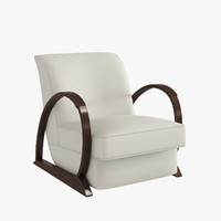 3d armchair hugues chevalier liberty model