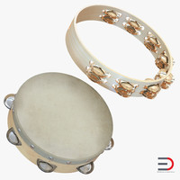 tambourines orchestral 3d model