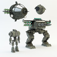 war robot set 3d max