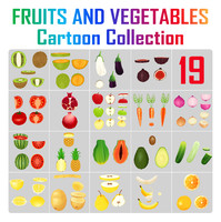 Fruits and Veetables - Cartoon Collection