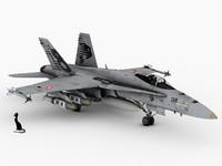 3d f-18 swiss model