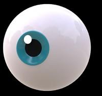 3d model eye toons