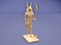 egyptian god anubis modern 3d model