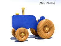 3d wooden tractor