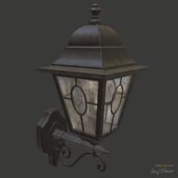 3d old wall lantern
