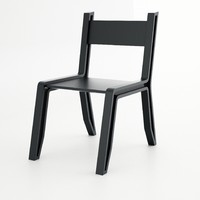 3d model inout chair bucca design