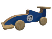 3d f1 wooden toy designed model