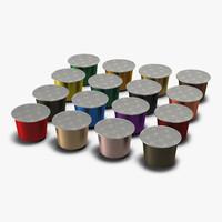 coffee capsules 3d max