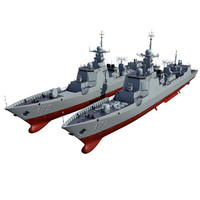 chinese navy destroyer 3d model