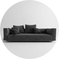 3d pianoalto sofa