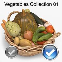 vegetables 01 3d model