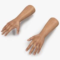 3d man hands model