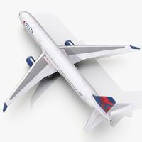 boeing 767-400er delta air lines 3d model