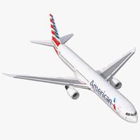 3d boeing 767 400er american airlines model