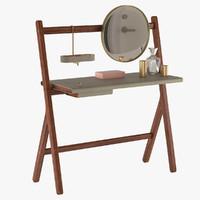 dressing table poltrona frau 3d model